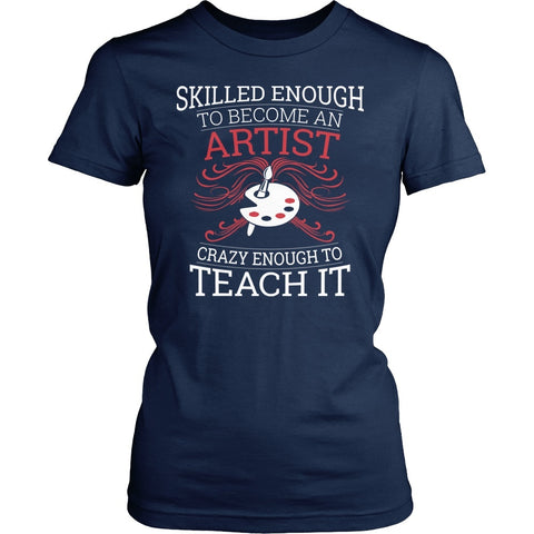 Art - Skilled Enough - District Made Womens Shirt / Navy / S - 1