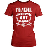 Art - Thankful - District Made Womens Shirt / Red / S - 5