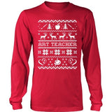 Art - Ugly Sweater 1 - District Long Sleeve / Red / S - 1