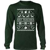Art - Ugly Sweater 1 - District Long Sleeve / Dark Green / S - 2
