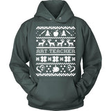 Art - Ugly Sweater 1 - Hoodie / Dark Green / S - 8