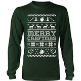 Art - Ugly Sweater 2 - District Long Sleeve / Dark Green / S - 1