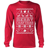 Art - Ugly Sweater 2 - District Long Sleeve / Red / S - 2