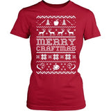 Art - Ugly Sweater 2 - District Made Womens Shirt / Red / S - 4