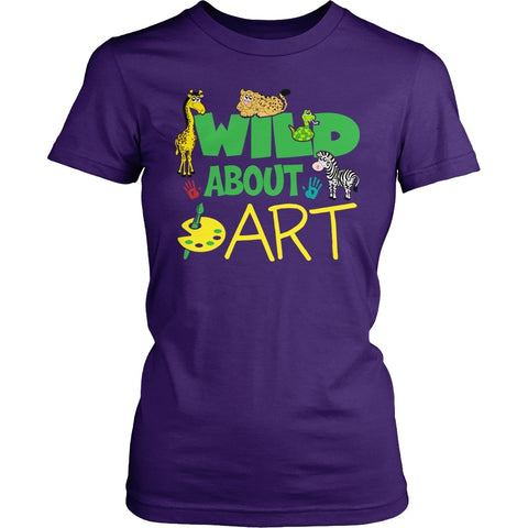 Art - Wild - District Made Womens Shirt / Purple / S - 1