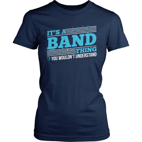 Band - Band Thing - District Made Womens Shirt / Navy / S - 1