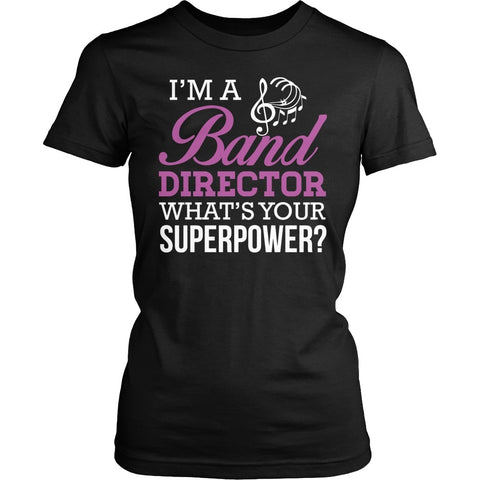 Band - Superpower - District Made Womens Shirt / Black / S - 1