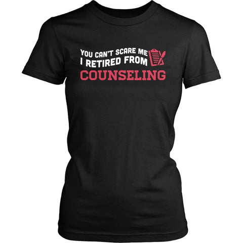 Counselor - Can't Scare Me - District Made Womens Shirt / Black / S - 1