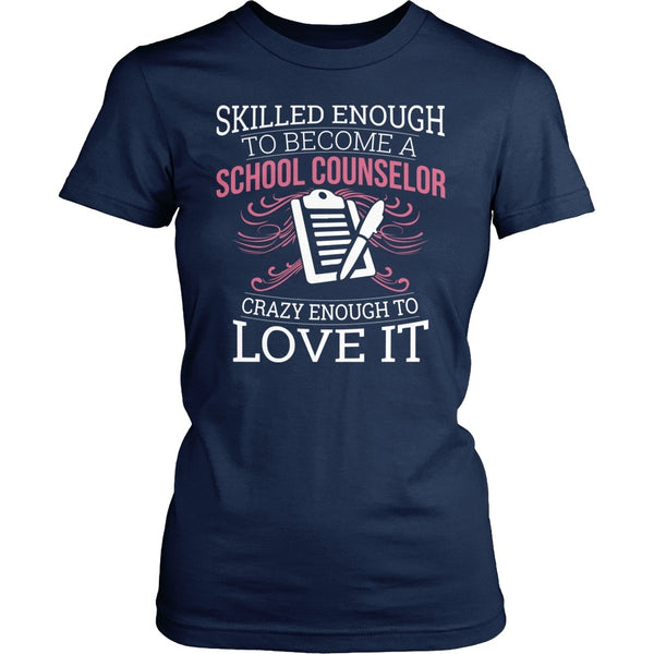 Counselor - Skilled Enough - District Made Womens Shirt / Navy / S - 1