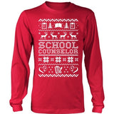 Counselor - Ugly Sweater - District Long Sleeve / Red / S - 2