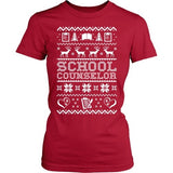 Counselor - Ugly Sweater - District Made Womens Shirt / Red / S - 3
