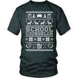 Counselor - Ugly Sweater - District Unisex Shirt / Dark Green / S - 6