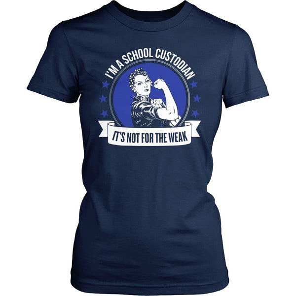 Custodian - Not for the Weak - District Made Womens Shirt / Navy / S - 1