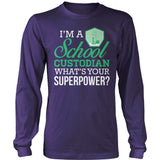 Custodian - Superpower - District Long Sleeve / Purple / S - 11