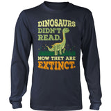 Elementary - Dinosaurs Didn't Read - District Long Sleeve / Navy / S - 10