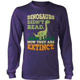 Elementary - Dinosaurs Didn't Read - District Long Sleeve / Purple / S - 11