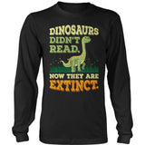 Elementary - Dinosaurs Didn't Read - District Long Sleeve / Black / S - 9