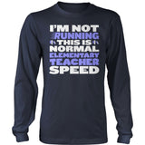 Elementary - Normal Speed - District Long Sleeve / Navy / S - 10