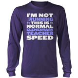 Elementary - Normal Speed - District Long Sleeve / Purple / S - 11