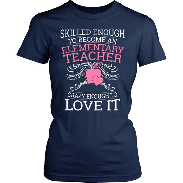 Elementary - Skilled Enough - District Made Womens Shirt / Navy / S - 1