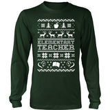 Elementary - Ugly Sweater - District Long Sleeve / Dark Green / S - 2