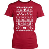 Elementary - Ugly Sweater - District Made Womens Shirt / Red / S - 3