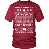 Elementary - Ugly Sweater - District Unisex Shirt / Red / S - 5