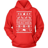 Elementary - Ugly Sweater - Hoodie / Red / S - 7