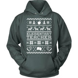 Elementary - Ugly Sweater - Hoodie / Dark Green / S - 8