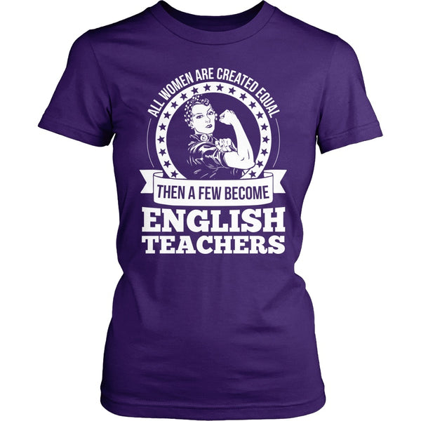 English - Created Equal - District Made Womens Shirt / Purple / S - 1