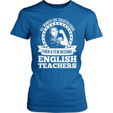 English - Created Equal - District Made Womens Shirt / Royal / S - 4