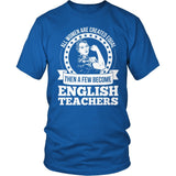 English - Created Equal - District Unisex Shirt / Royal Blue / S - 8