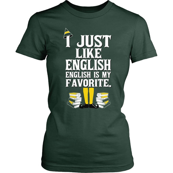 English - Elf v2 - District Made Womens Shirt / Forest Green / S - 1