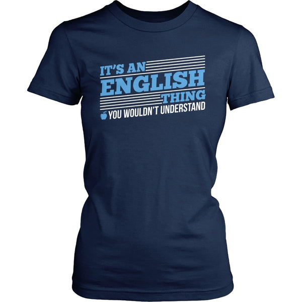 English - English Thing - District Made Womens Shirt / Navy / S - 1
