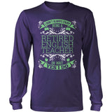English - I Don't Always - District Long Sleeve / Purple / S - 11