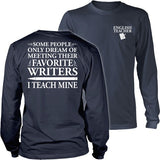 English - I Teach Mine - District Long Sleeve / Navy / S - 25