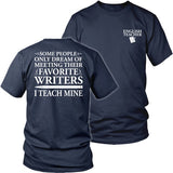 English - I Teach Mine - District Unisex Shirt / Navy / S - 26