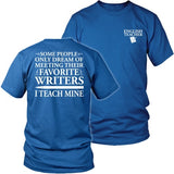 English - I Teach Mine - District Unisex Shirt / Royal Blue / S - 28