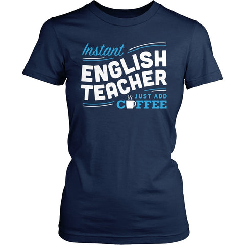 English - Instant - District Made Womens Shirt / Navy / S - 1