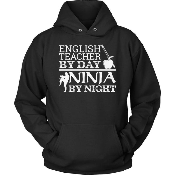 English - Ninja - Hoodie / Black / S - 1