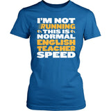 English - Normal Speed - District Made Womens Shirt / Royal / S - 2