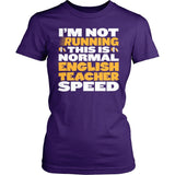 English - Normal Speed - District Made Womens Shirt / Purple / S - 4