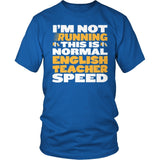 English - Normal Speed - District Unisex Shirt / Royal Blue / S - 8