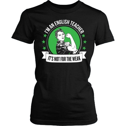 English - Not for the Weak - District Made Womens Shirt / Black / S - 4