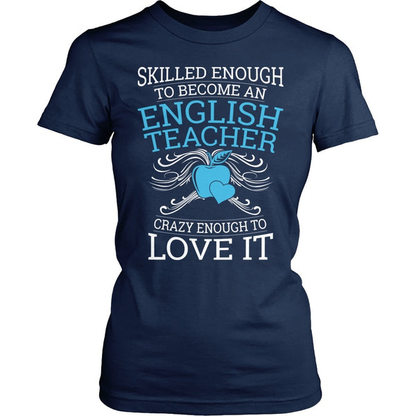 English - Skilled Enough - District Made Womens Shirt / Navy / S - 1