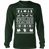 English - Ugly Sweater - District Long Sleeve / Dark Green / S - 2