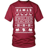 English - Ugly Sweater - District Unisex Shirt / Red / S - 5