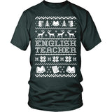 English - Ugly Sweater - District Unisex Shirt / Dark Green / S - 6