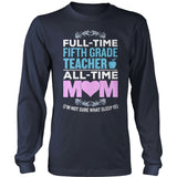 Fifth Grade - Full Time - District Long Sleeve / Navy / S - 10