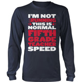Fifth Grade - Normal Speed - District Long Sleeve / Navy / S - 10